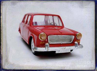 Miniature Effect Photograph - Toy Car by Bernard Jaubert