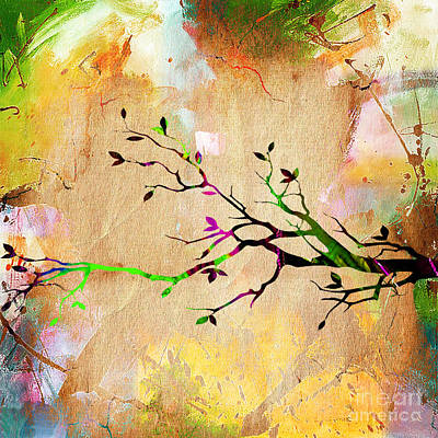 Leaves Mixed Media - Tree Branch Collection by Marvin Blaine