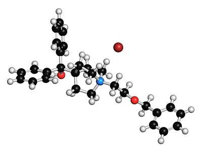 Umeclidinium Bromide Copd Drug Molecule Print by Molekuul