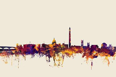 Washington Digital Art - Washington Dc Skyline by Michael Tompsett