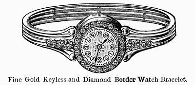 Diamond Bracelet Painting - Watch Bracelet, 1891 by Granger