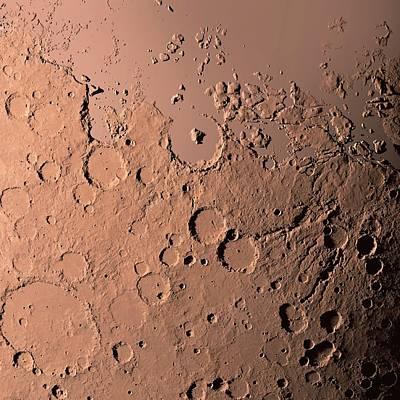 Water On Mars Print by Detlev Van Ravenswaay