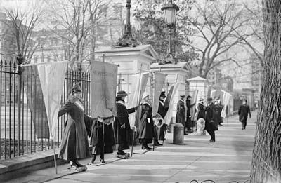 White House Suffragettes Print by Granger