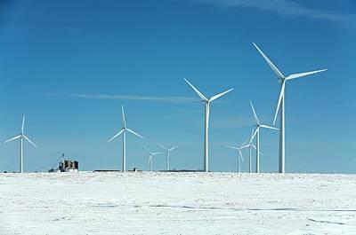 Generator Photograph - Wind Farm by Jim West