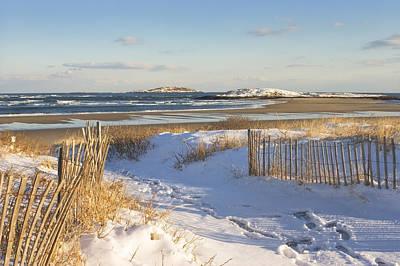Winter At Popham Beach State Park Maine Print by Keith Webber Jr