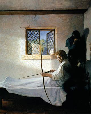 Prison Painting - Wyeth Robin Hood, 1917 by Granger