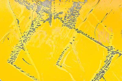 Yellow Metal Print by Tom Gowanlock