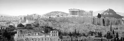 Acropolis Photograph - High Angle View Of Buildings In A City by Panoramic Images