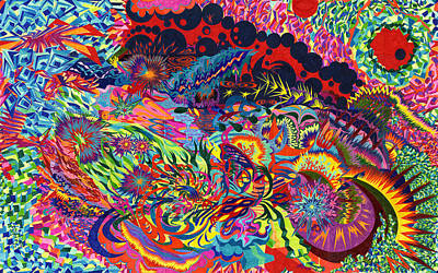 Fruit Tree Art Painting - 40 Tiles by Sean Corcoran