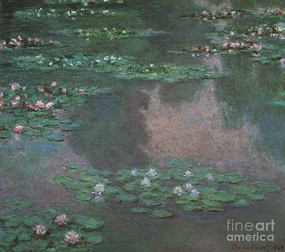 Sun Painting - Water Lilies by Celestial Images