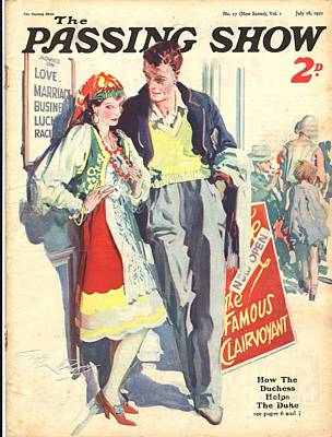 Gypsy Drawing - 1930s,uk,the Passing Show,magazine Cover by The Advertising Archives