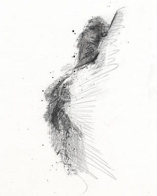 White Drawing - Rcnpaintings.com by Chris N Rohrbach