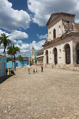 Iglesia Photograph - Cuba, Sancti Spiritus Province by Walter Bibikow