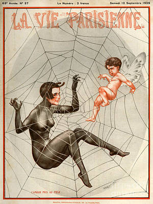 Spider Drawing - 1920s France La Vie Parisienne Magazine by The Advertising Archives