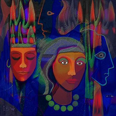 428 - Exotic Couple 2 Print by Irmgard Schoendorf Welch