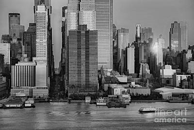 42nd Street Times Square Bw Print by Susan Candelario