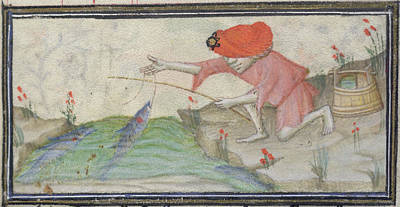 Angling Photograph - Book Of Hours by British Library