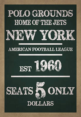 New York Jets Print by Joe Hamilton