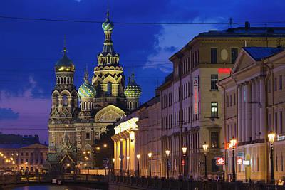 Eastern Europe Photograph - Russia, Saint Petersburg, Center by Walter Bibikow