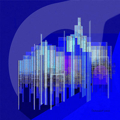 Expressive Expressions Digital Art - 462 - Big City Abstract ... by Irmgard Schoendorf Welch