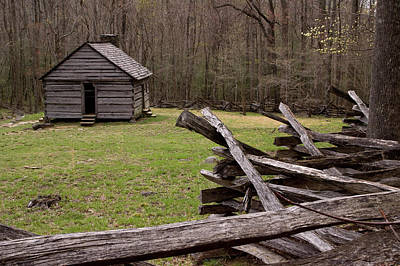 Log Cabin Photograph - Usa, Tennessee, Great Smoky Mountains by Jaynes Gallery