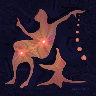 Lyrical Digital Art - 477 - Rhythmic Relaxation .... by Irmgard Schoendorf Welch