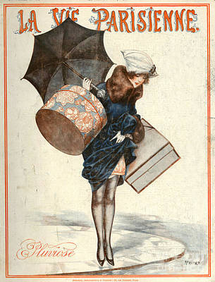 La Vie Parisienne Drawing - 1920s France La Vie Parisienne Magazine by The Advertising Archives