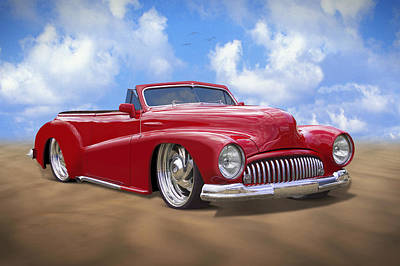 48 Buick Convertible Print by Mike McGlothlen