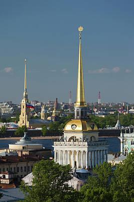 Russia, Saint Petersburg, Center Print by Walter Bibikow