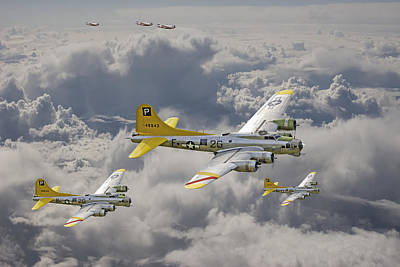 487th Bomb Group Print by Pat Speirs