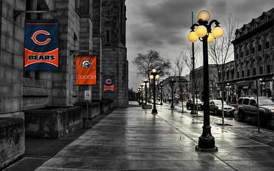 Flag Photograph - Chicago Bears by Joe Hamilton