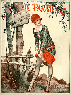 Womens Drawing - 1920s France La Vie Parisienne Magazine by The Advertising Archives