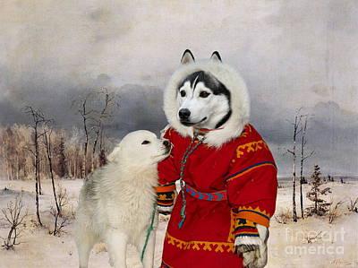 Siberian Husky Art Canvas Print  Print by Sandra Sij