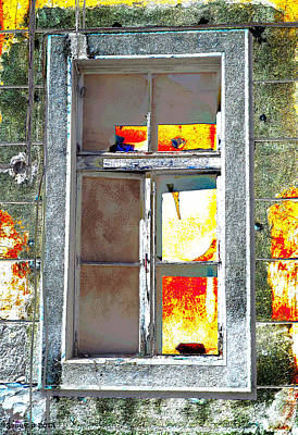 Aging Alte Fenster Serie Print by Sir Josef Social Critic - ART