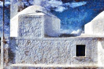 Agios Nikolaos Chapel In Aegina Port Print by George Atsametakis