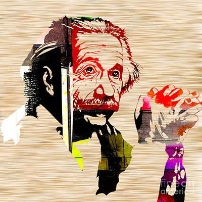 Portraits Mixed Media - Albert Einstein by Marvin Blaine
