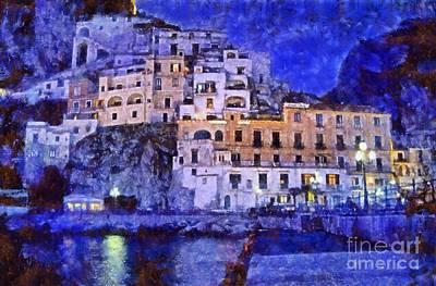 Amalfi Town In Italy Print by George Atsametakis