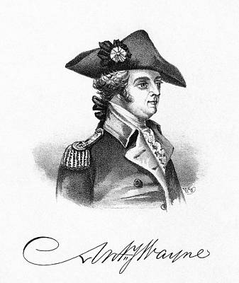 Autograph Painting - Anthony Wayne (1745-1796) by Granger