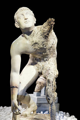 Artifact Photograph - Antikythera Shipwreck Artifact by Louise Murray