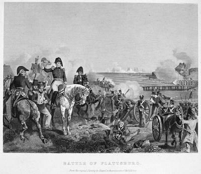 War Of 1812 Painting - Battle Of Lake Champlain by Granger