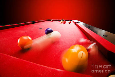 Billards Pool Game Print by Michal Bednarek
