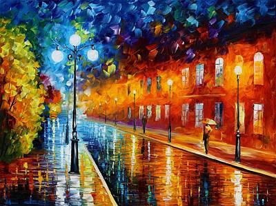 Owner Painting - Blue Lights by Leonid Afremov