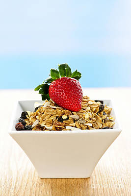 Strawberries Photograph - Breakfast  by Elena Elisseeva