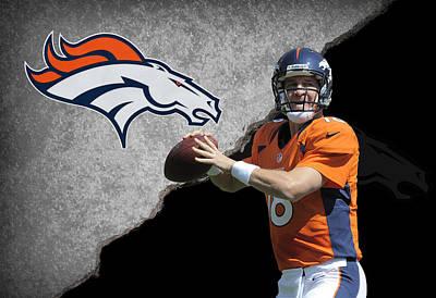Peyton Photograph - Broncos Peyton Manning by Joe Hamilton