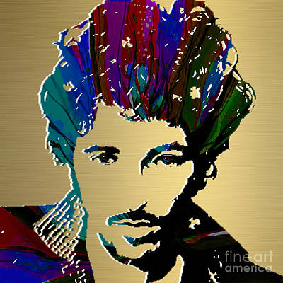 Bruce Springsteen Gold Series Print by Marvin Blaine