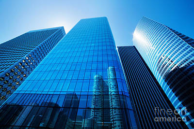 Outdoors Photograph - Business Skyscrapers by Michal Bednarek
