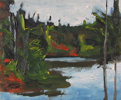 Arbres Verts Painting - By The Pond by Francois Fournier