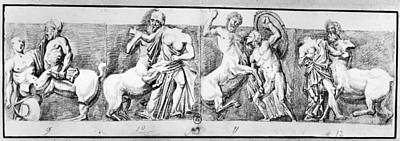 Centaur Drawing - Carrey Parthenon, 1674 by Granger