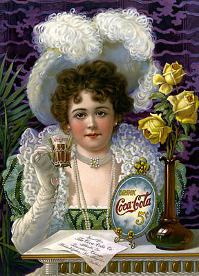 5 Cent Coca Cola - 1890 Print by Daniel Hagerman
