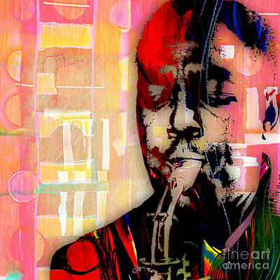 Charlie Parker Collection Print by Marvin Blaine